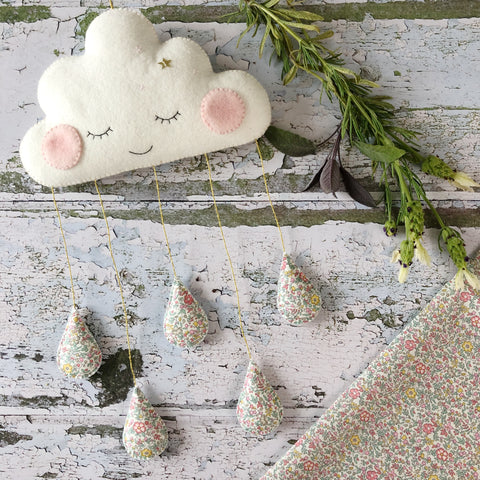 Liberty print cloud decoration