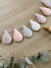 Charger l'image dans la galerie, Droplet Garland - Mixed Liberty with off white and blush. Made to order.