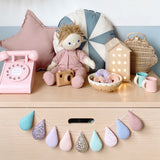 Soft pastels Droplet Garland. Made to order within 4 weeks