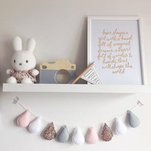 Load image into Gallery viewer, Velveteen-Babies-rose-gold-drop-garland