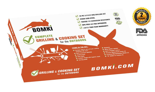 BOMKI Complete Grilling & Cooking Set for the Outdoors - butiksonline