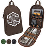 BOMKI 13 PC Grilling & Cooking Essentials - Brown