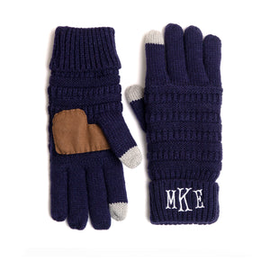 Personalized Monogrammed Gloves Customize With 1-3 Letters 4 Colors 3 Font Styles - butiksonline