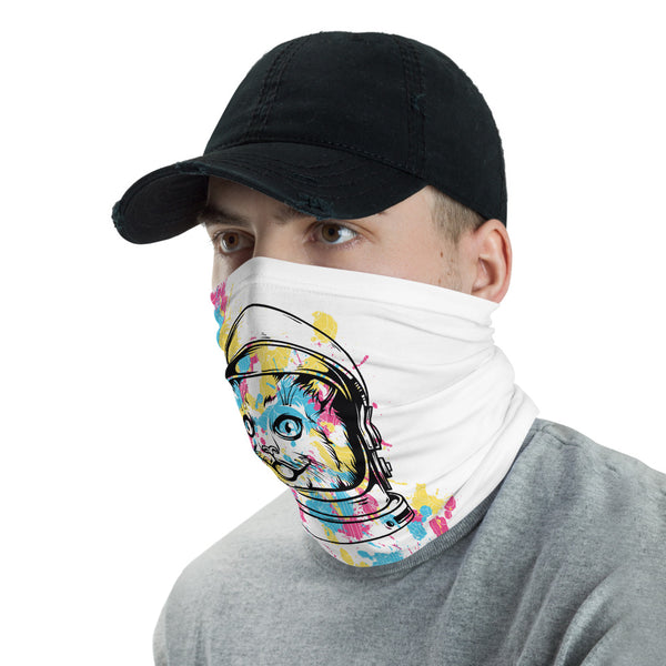 The Astronaut Cat Multifunctional Face Mask Headwear Neck Gaiter All Elements Protection - butiksonline