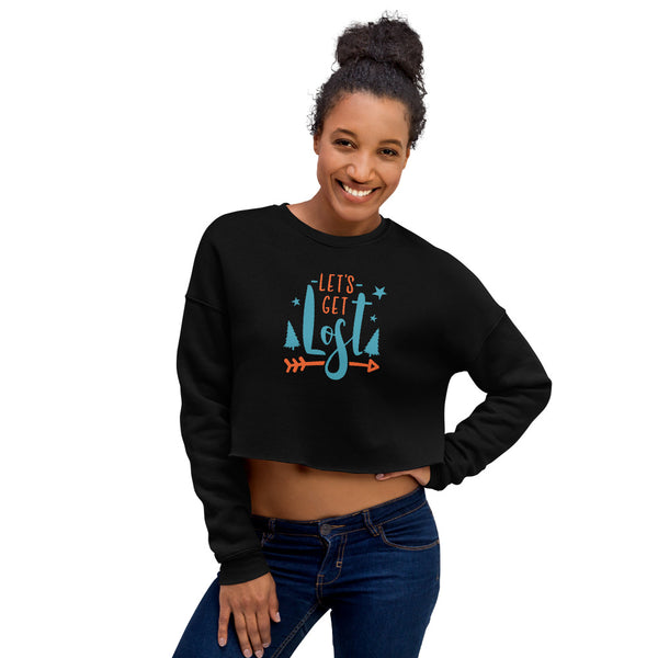 Let's Get Lost Crop Sweatshirt - butiksonline
