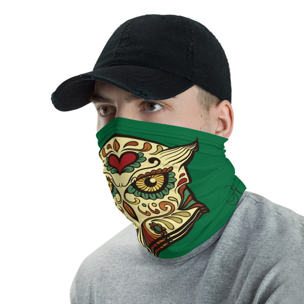 Stylish Owl Multifunctional Face Mask Headwear Neck Gaiter All Elements Protection - Green - butiksonline