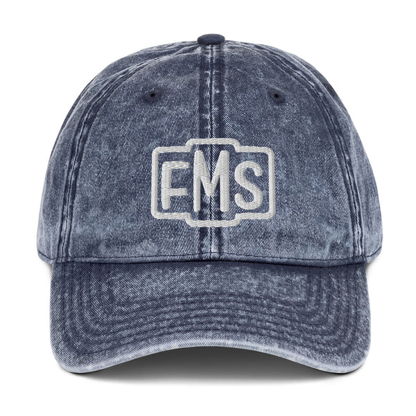 Personalized Monogrammed Vintage Cotton Twill Cap Customize With 3 Letters