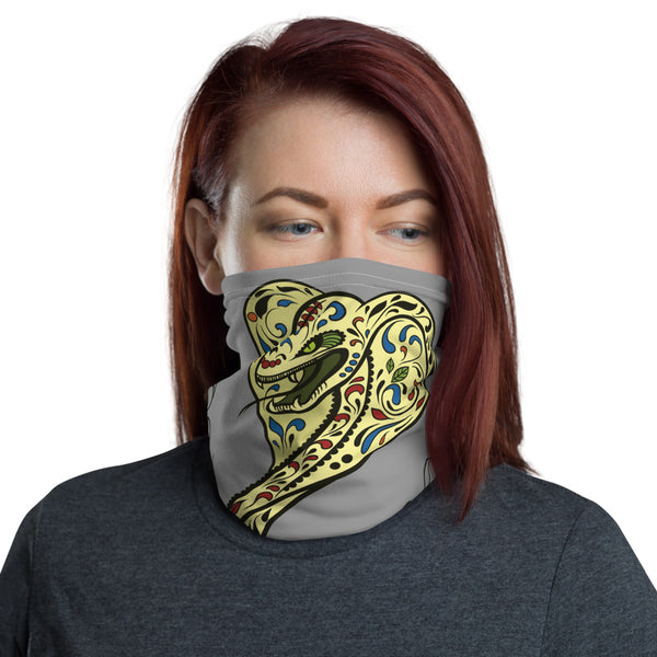 Hungry Snake Multifunctional Face Mask Headwear Neck Gaiter All Elements Protection - Grey - butiksonline