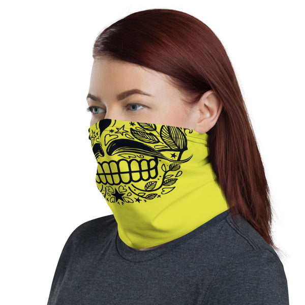 Moustachioed Skull Multifunctional Face Mask Headwear Neck Gaiter All Elements Protection - butiksonline