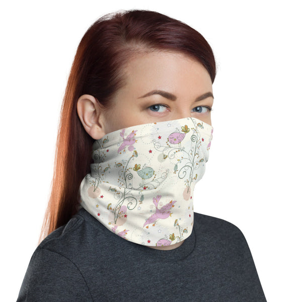 Birds Garden Multifunctional Face Mask Headwear Neck Gaiter All Elements Protection