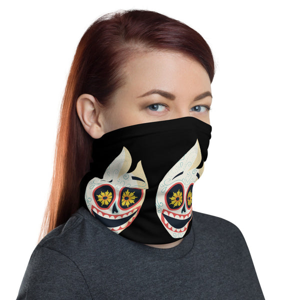 Funny Skull Multifunctional Face Mask Headwear Neck Gaiter All Elements Protection - butiksonline