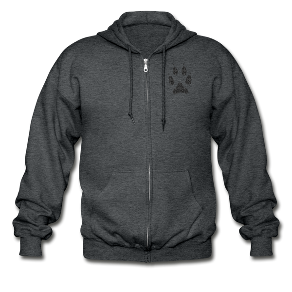 Gildan Heavy Blend Adult Zip Hoodie - deep heather