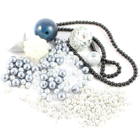 Accent Bead Collection - Silver Sparkle