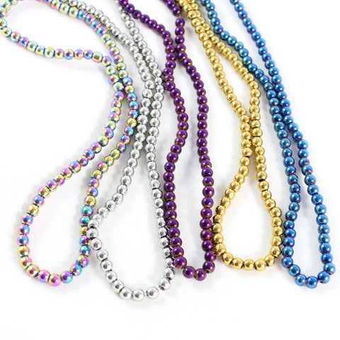 4mm Metallic Glass Bead Collection – Approx. 1400 Pieces