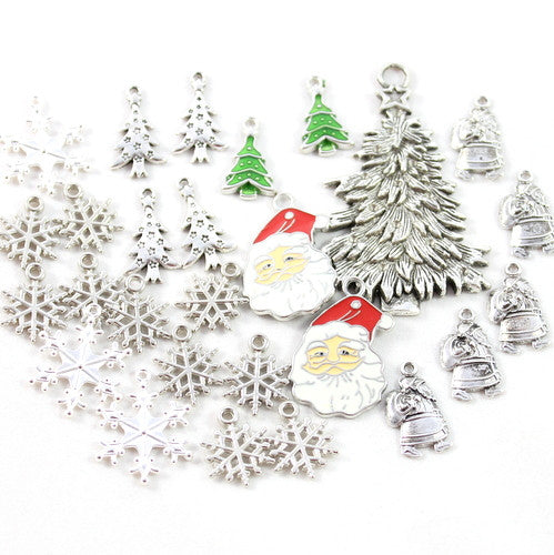 Assorted Christmas Charms - 27 Pieces