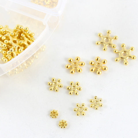 Assorted Sparkle Spacer Set in a Handy Storage Pot – Gold
