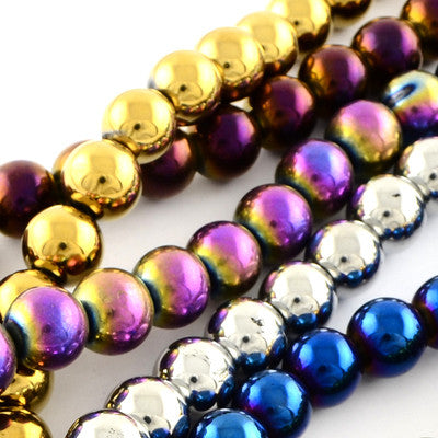 6mm Metallic Glass Bead Collection – Approx. 1100 Pieces