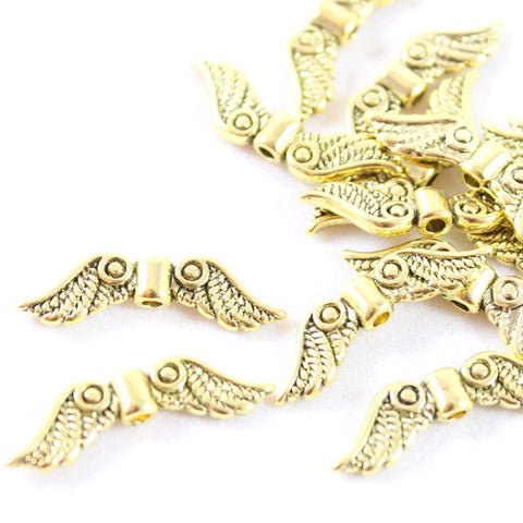 Angel Feather Wing Charms – Gold