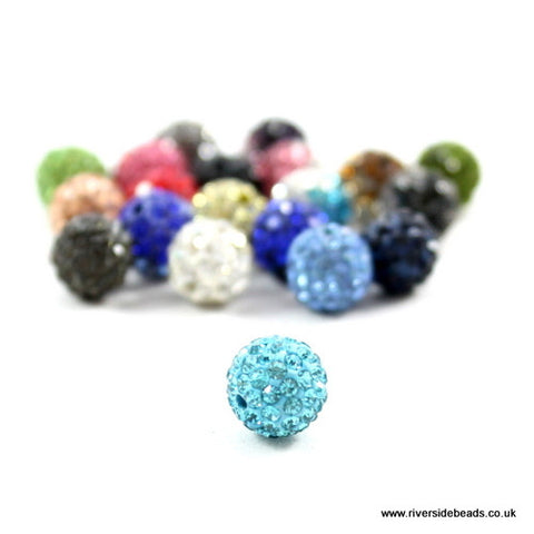 Crystal Clay Beads - Aqua