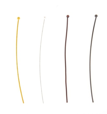 Head Pin Ball End 2mm - Gold Plated