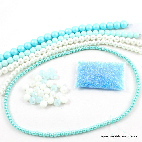 Pearl and Crystal Collection – Vibrant Aqua