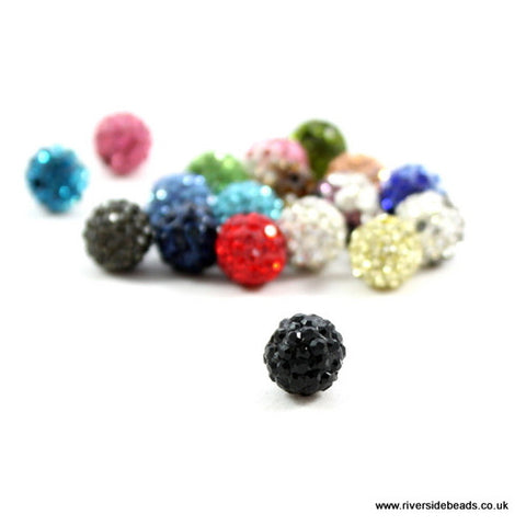 Crystal Clay Beads - Black