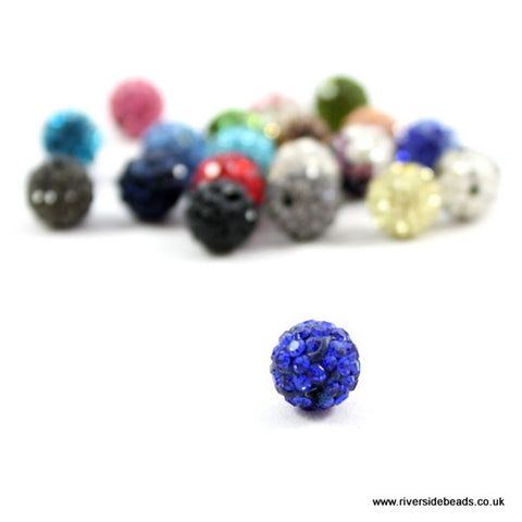 Crystal Clay Beads - Blue