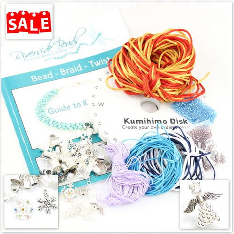Kumihimo Christmas Book Bundle with End Caps & Cord