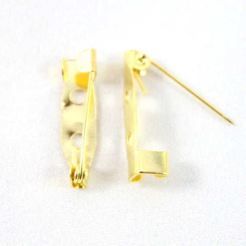 Brooch Pins – 20mm Gold