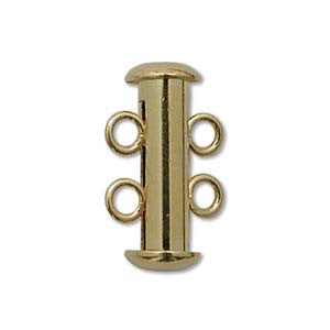 Magnetic Multistrand Slider Clasp - 2 Strand - Gold Plated