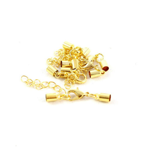 Kumihimo Style Bell Closer - Gold 4mm