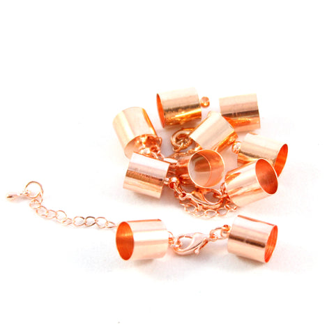 Kumihimo Style Bell Closer - Rose Gold 6mm