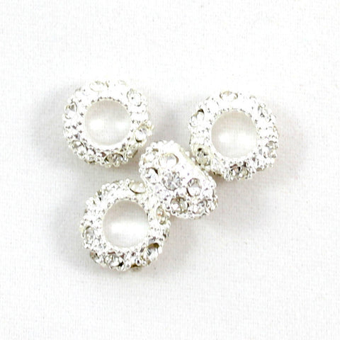 Diamante Large Holed Bead - Crystal