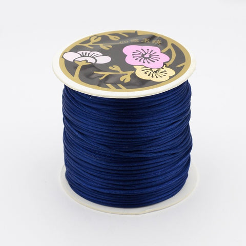 Satin Cord - Dark Blue