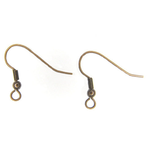 Fish Hook Ear Wire - Copper