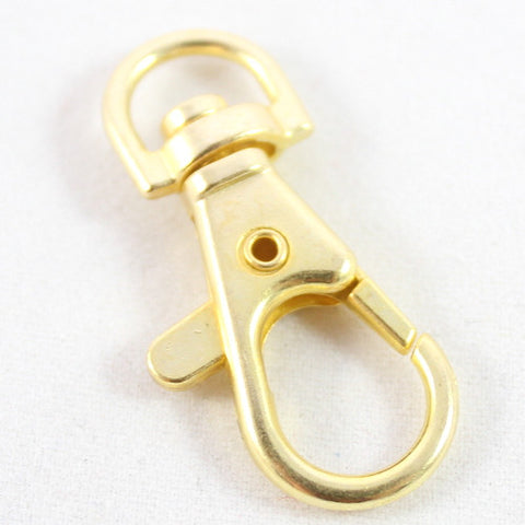 Handbag Charm Swivel Clip (Large) - Gold