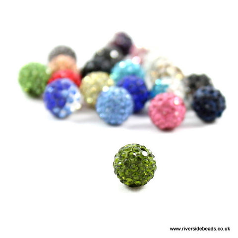 Crystal Clay Beads - Green