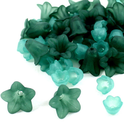 Lucite Flower Collections - Green