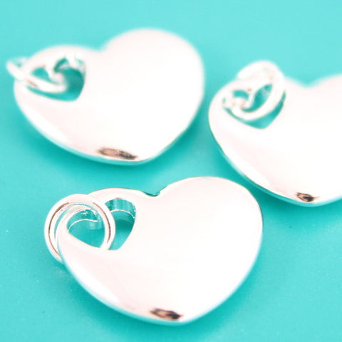 Heart In Heart Charm - Silver Plated