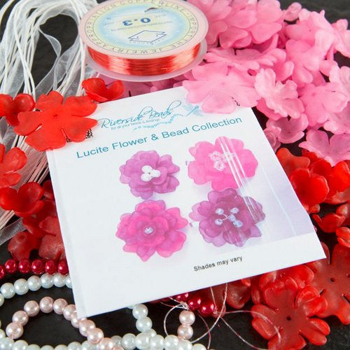 Lucite Flower & Bead Collection