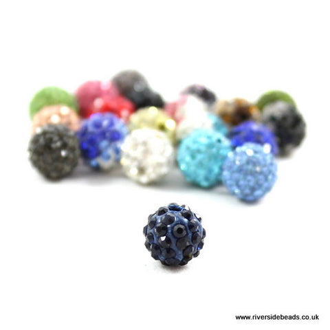 Crystal Clay Beads - Navy