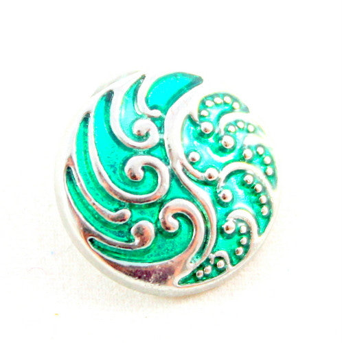 Popper Charm Colour Swirl - Green
