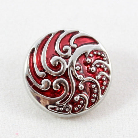 Popper Charm Colour Swirl - Red
