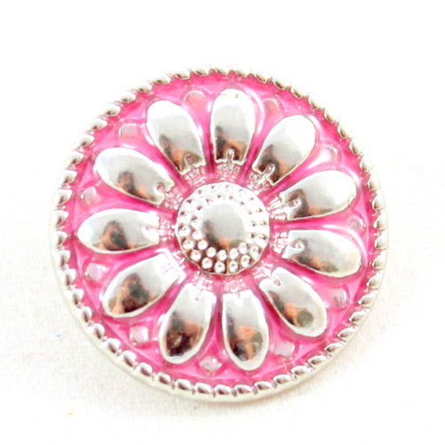 Popper Charm Daisy - Pink