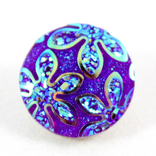 Popper Charm Irridescent Floral - Purple