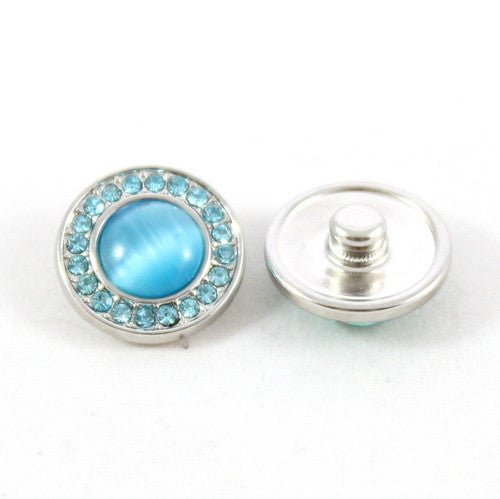 Popper Charm Diamante Gem - Blue
