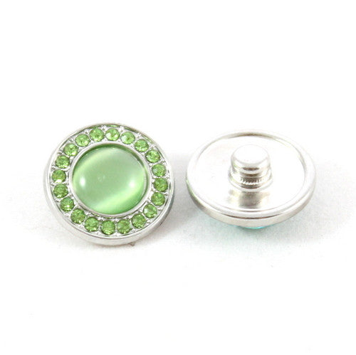 Popper Charm Diamante Gem - Green