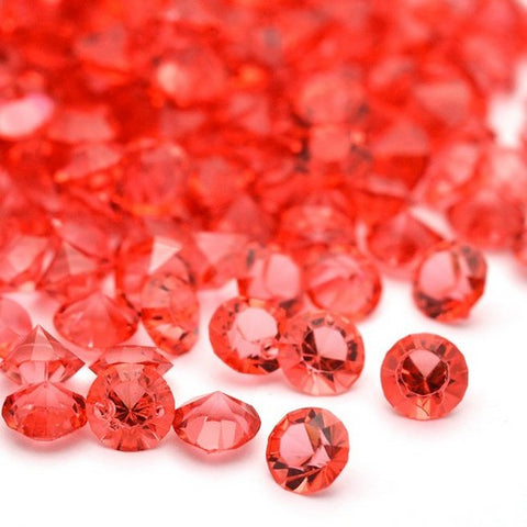 Acrylic Faceted Stones - Red