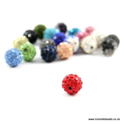 Crystal Clay Beads - Red