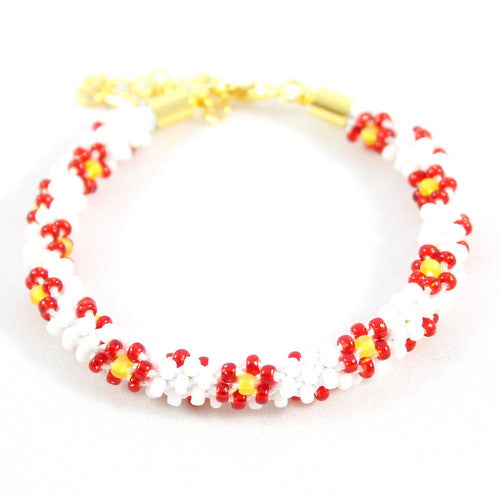 Christmas Beaded Flower Kumihimo Kit